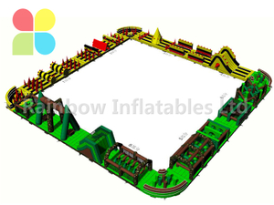 RB5202(144x5.5m)Inflatable large 144 meters multi-functional Obstacle Course competition For adult
