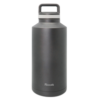 Stainless Steel Vacuum Sports Bottle Black 2000ml