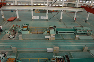 High-speed sheet cut to length line machine