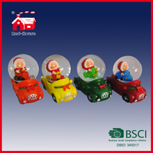 Top Level Handmade Custom Glass Snow Globe Water Globe in Cute Cars
