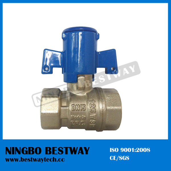 Plastic lockable water meter valve with high quality bw for Plastic water valve types