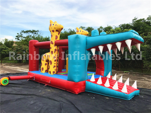 RB1069 (7x4x3.8m ) Inflatables Popular Crocodile / giraffe Bouncer