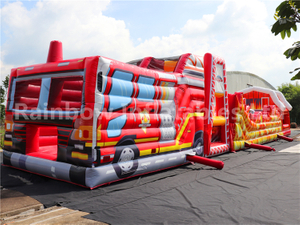 RB5203(20x4x5m) Inflatable long car Obstacle Course For Kids
