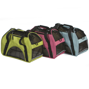 Dog soft sided comfort portable pet carrier
