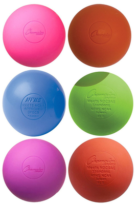 Colorful custom lacrosse balls-pack o f 6