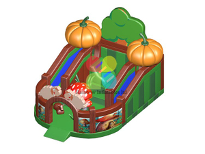 RB04154(8x8x4.5m)Inflatable pumpkin Farm Playground/funcity and Slide for sale