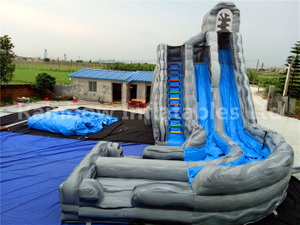 RB6084(5.5x8m+7x3.5m) Inflatable Cheap Double Lane Slip Water Slide For Kids And Adults