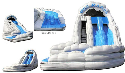 Wild Rapids Inflatable Water Slide with Pool