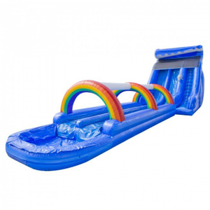 High Blue Marble Inflatable Water Slide
