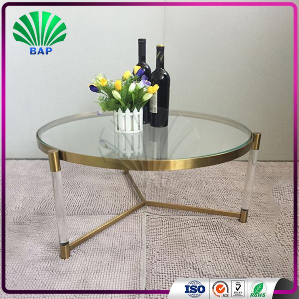 Buy Clear Acrylic Round Coffee Table Living Room Center Tea