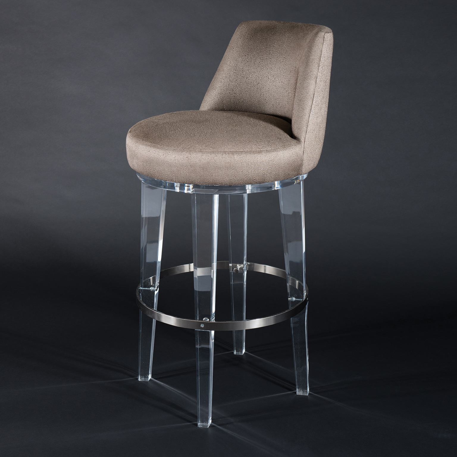 Image of: High Quality Elegantly Crystal Lucite Legs Bar Chair Modern Acrylic Vanity Stool Chair For Salon Buy Acrylic Furniture Clear Acrylic Cushion Round Stool Lucite Bar Chair Product On Dongguan Jingfumei Acrylic