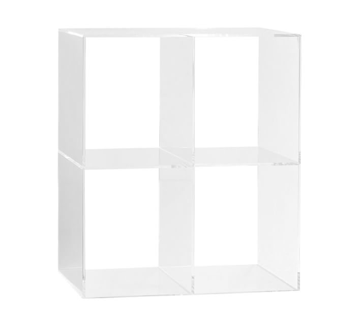 Clear Acrylic Organizer Cube Shelves Free Standing Lucite Home