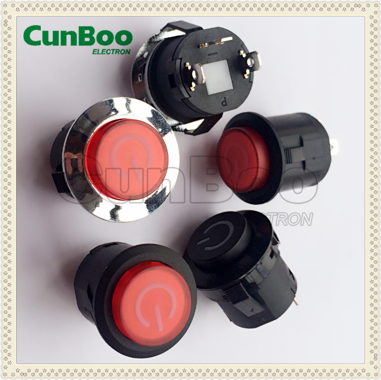 26mm pannel mounting push button switch