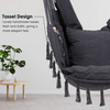 Macrame Hammock Swing Chair With Two Pillows/Carry bag/Hardware
