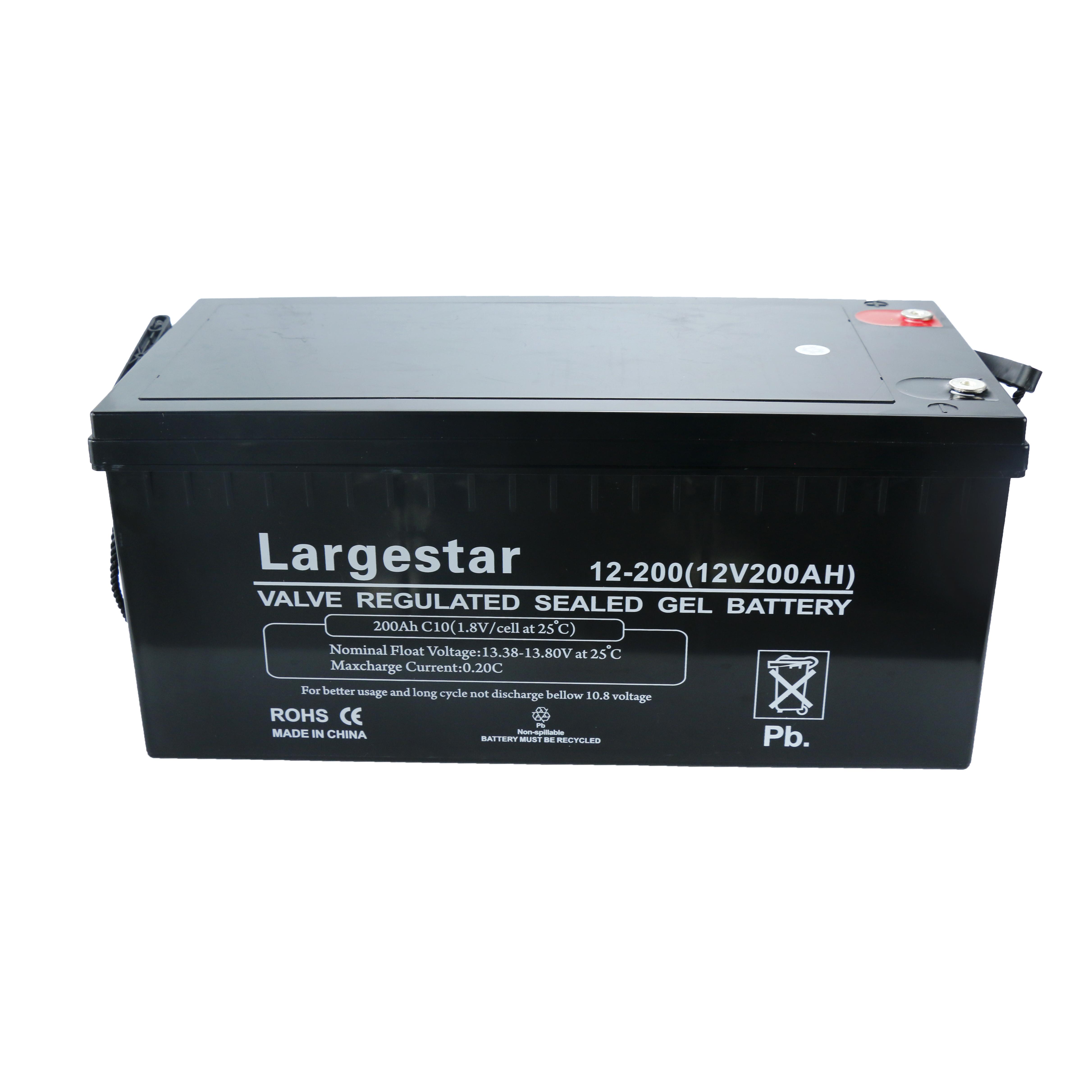 12v 200ah lead acid deep cycle solar power storage battery