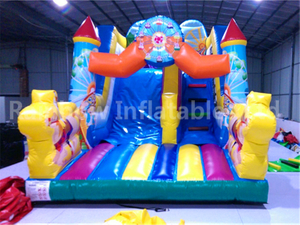 RB8016(5.4x3.5x4m) Inflatable Giant Slide Inflatable Bouncy Castle With Water Slide