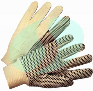 pvc dotted cotton gloves(CTDP101)