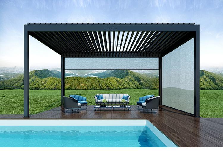 aluminum garden pergola with retractable canopy buy garden pergola aluminum garden pergola. Black Bedroom Furniture Sets. Home Design Ideas