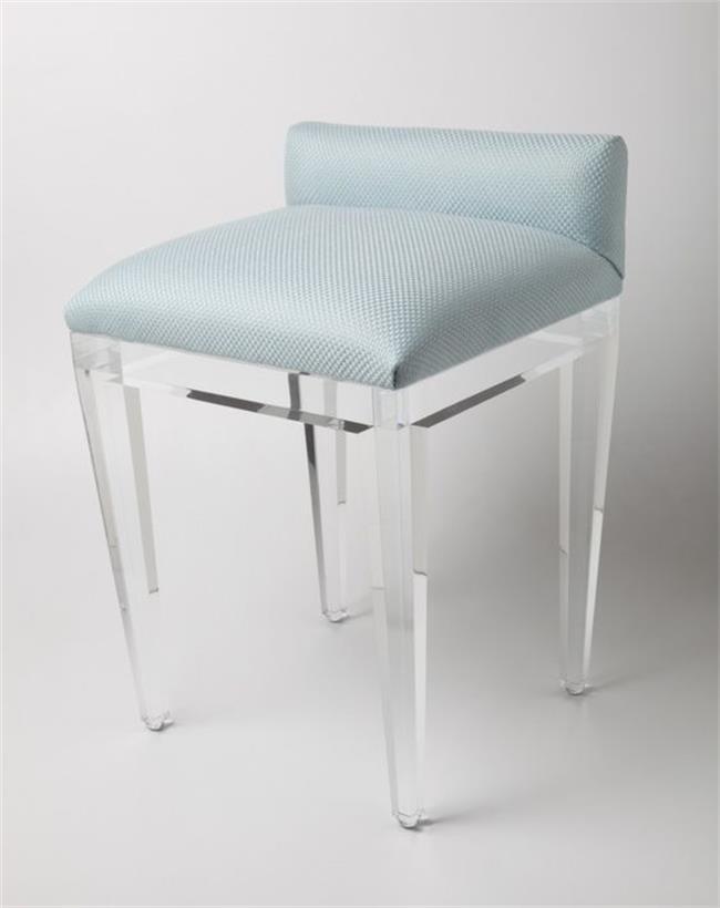 Perfect High End Leisure Bar Stool Soft Cushion Acrylic Stool Bar Chair