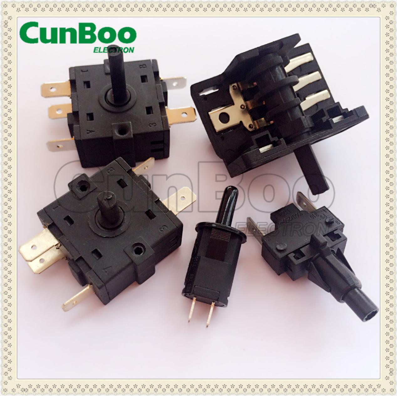 5 position rotary switch heat resistance