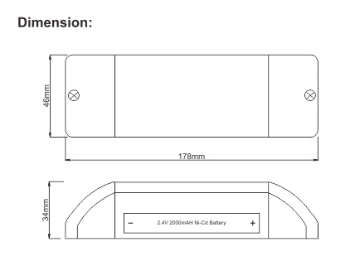 emergency light conversion kit for 18-24w led panel