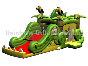 RB03103(10x4x4.5m)Inflatable Green crocodile combo for Kids