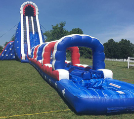 Inflatable Water Slide with Slip n Slide 55 feet long