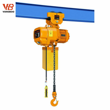 Electric Chain Hoist With Plain Trolley Used For Bridge Crane