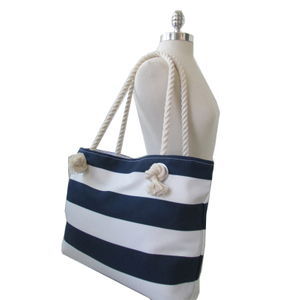Striped Nautical Design Beach Shopping Shoulder Bag