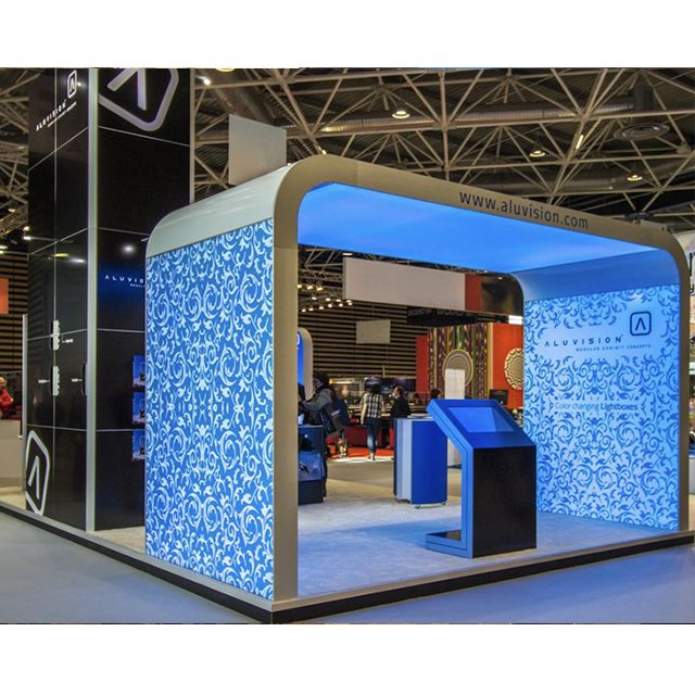 Fabric Exhibition Stand Lighting : Free standing frameless backlit light box exhibition
