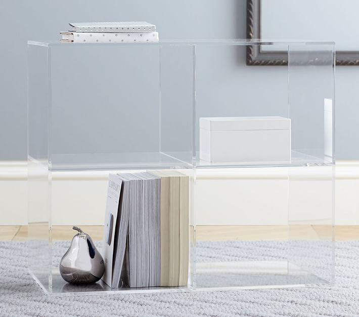 Clear Acrylic Living Room Storage Organizer Shelf Small