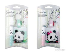 Panda Bag Tag W/Mini Ball Pen Set