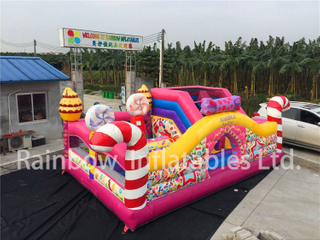 RB04050(6x5m) Inflatable colorful candy funcity hot sale