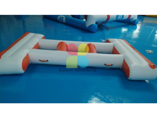 Inflatable long Floating island water park games hot sale RB32077