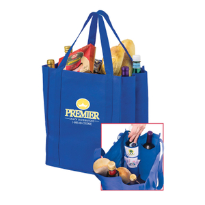 Trend Non-Woven 4 Bottle Drink Tote with Grocery bag