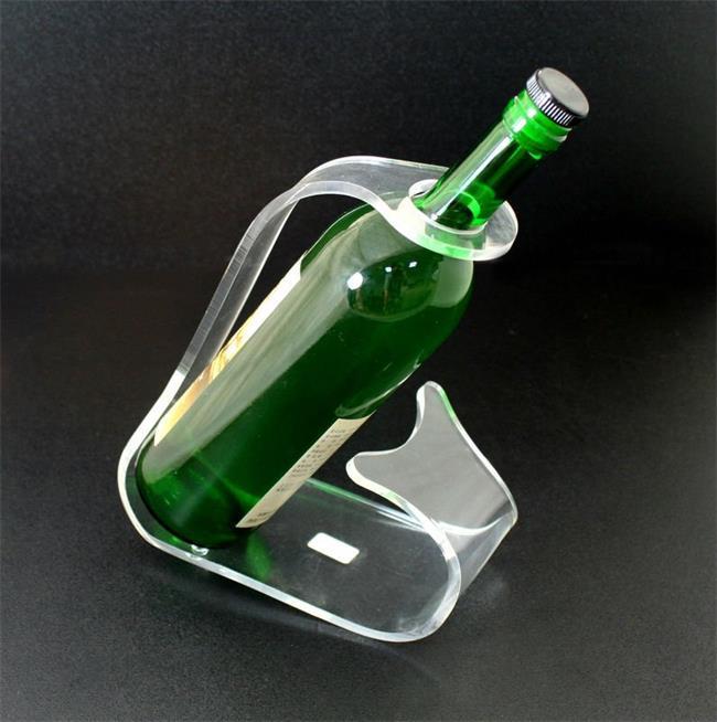 Wholesale Single Bottle Holder Plexiglass Wine Rack Whiskey