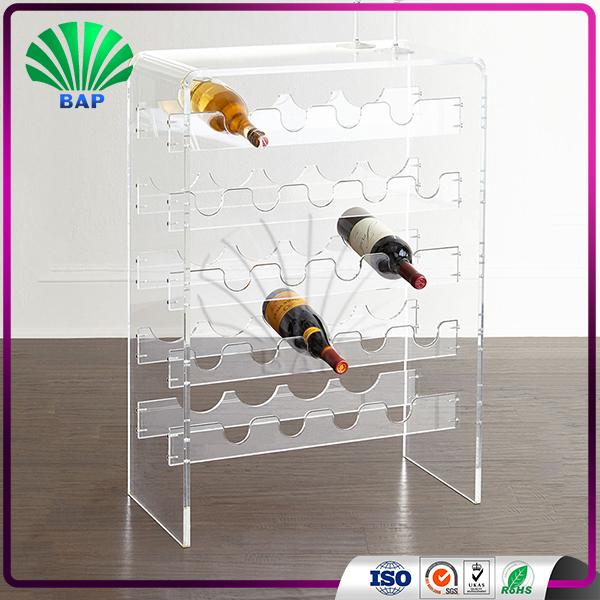 Acrylic Fake Wine Bottles Glass Display Cabinet Bottle Shape