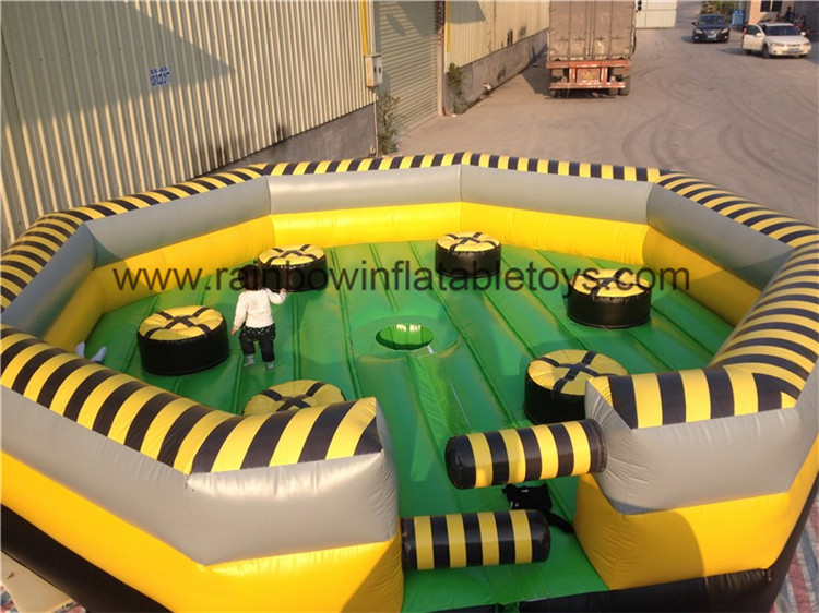 RB9124-1 (dia6.4m) Inflatable Mechanical Bull Sport Game For Sale