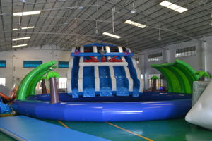 Outdoor Above Ground Mobile Giant Kids Adult Inflatable Amusement Park
