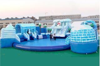 Super Giant Inflatable Ground Water Amuse Park