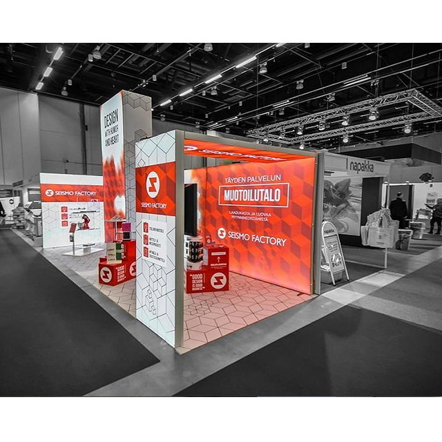 Exhibition Booth Usa : Free standing frameless backlit light box exhibition
