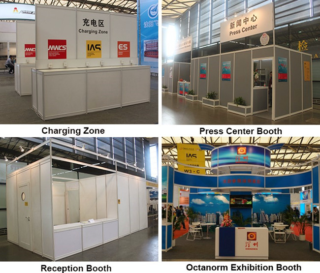 Exhibition Shell Yard : Octanorm aluminium shell scheme booth from china