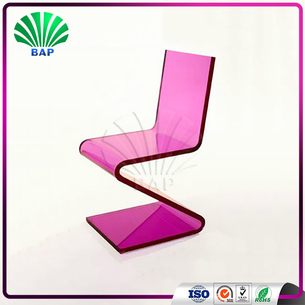 Modern Z Shape Lounge Chair Acrylic Living Room Chair Plexiglass ...