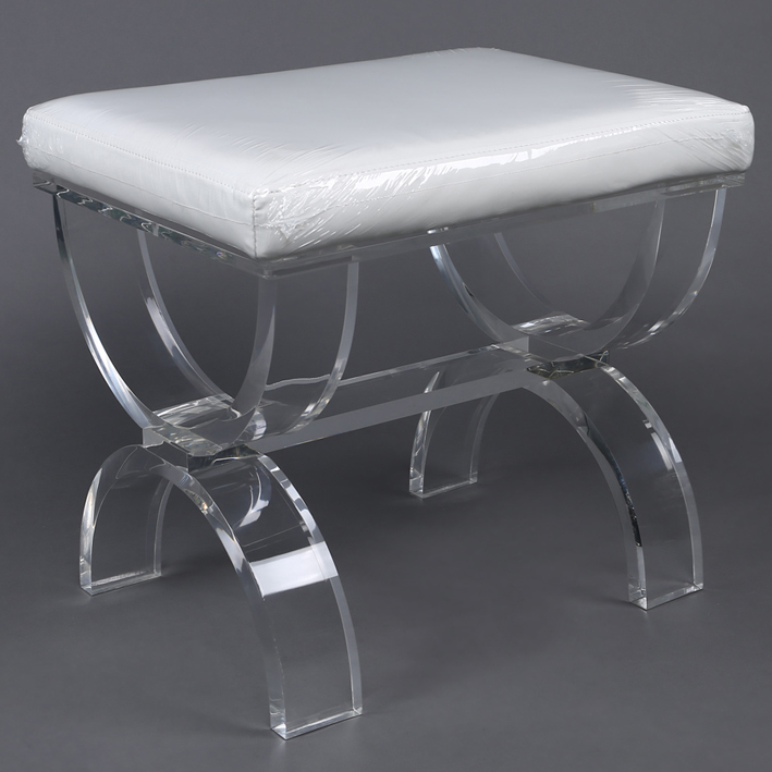 Prime Dressing Foot Stool Fancy Acrylic Foot Stool With Clear X Gmtry Best Dining Table And Chair Ideas Images Gmtryco
