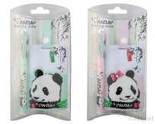 Panda Bag Tag W/Pen Set