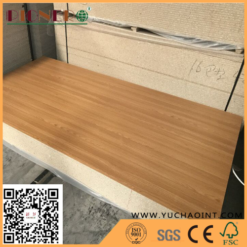Black colour slotted melamine particle board Grooved chipboard