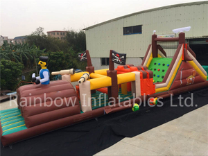 RB5071(15.8x3.4x5.7m) Inflatable New Pirate theme long Obstacle Course