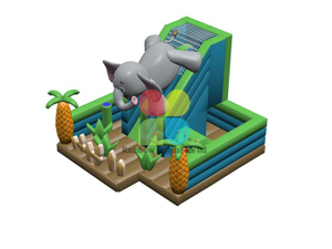 RB04151(7.9x8.3x5.8m)Inflatable Elephant them funcity with slide new design for sale