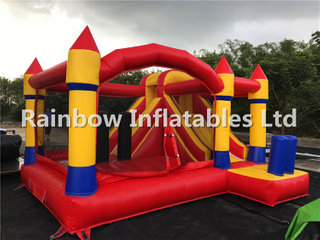 RB3014(3.5x4x2.5m) Inflatables Red and Yellow Combo Castle With Slide