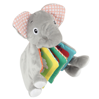 Big elephant baby cloth book with polyester wadding